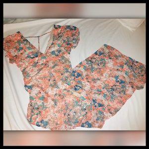 Maxi Dress : Floral : Sheer